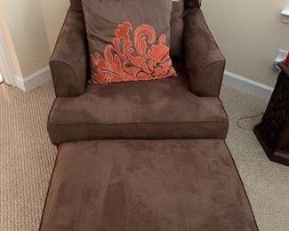Presale item  - 2 matching chairs with ottomans -  immaculate -  $140 per set