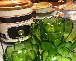 Green bowl set MCM
