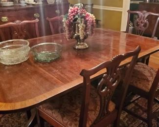 Dining Room Table and Chairs Chippendale Style