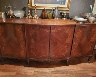 Beautiful side board or entry piece inlaid wood