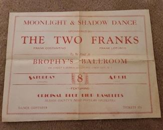 Antique NJ Dance Hall Poster (1930s ORIGINAL!)