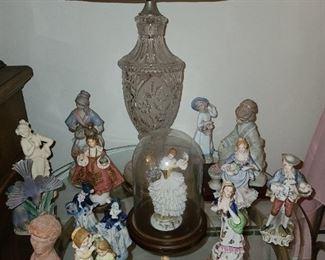 Crystal Lamp & Figurines