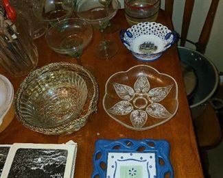 Assorted Kitchen Pots, Pans, Dishware, Glassware, China, Etc.