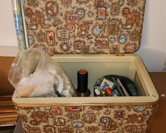 Sewing Basket & Contents