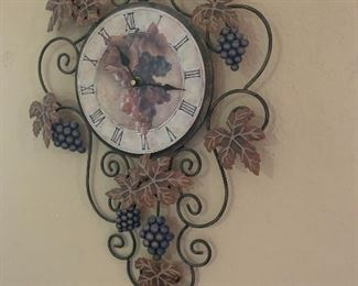 Grape clock