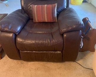 Leather power recliners (2)