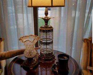 Lamps and furniture. Prices not marked yet but will be priced to sell.