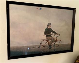 """Andrew Wyeth """"Young American"""" Framed Picture!"""