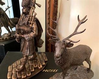 Genesis Fine Arts Stag & Pipe Major Sculptures Mullinger, Ireland!