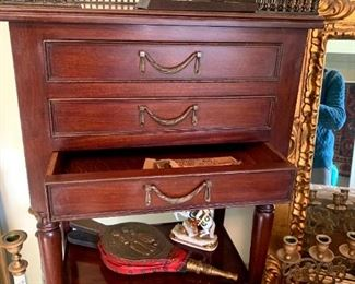Century Furniture Grand Rapids, MI. Ornate Table w/3 Drawers!