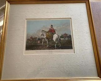 """Framed Print """"Mandarin Rider"""" Executed by Engraver James Fittler in 1796 from drawing by William Alexander (1767-1816)"""