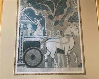 Framed Print Paintings from Temple Shrine & Rock (Ceylon)!