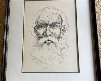 Framed Pen & Ink Drawing Robert Stifel!