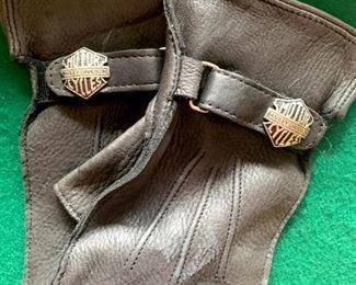 Harley Davidson Open Black Leather Gloves!