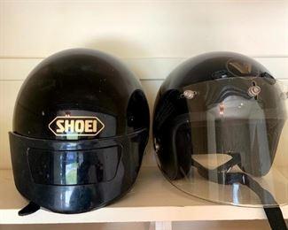 Vintage Shoei #RJ-10IV Size L Motorcycle Helmet, Soar Mfg. #SR-500 Size M Motorcycle Helmet!