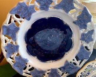 Blue Leaf Platter Made in Germany!