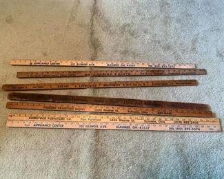 Vintage Yard Sticks for Toledo Businesses!