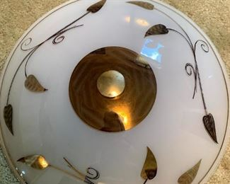 Retro Glass Ceiling  Light Fixture!
