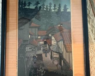 Nocturnal Japanese Woodblock Print!