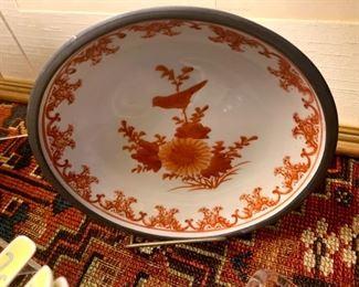 Japan Porcelain Pewter Clad Bowl!
