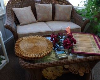 wicker 2 piece grouping