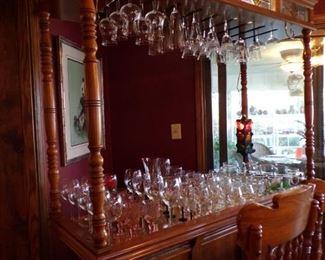 large bar, lights