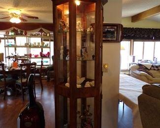 curio cabinet, lights