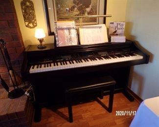 technics digital ensemble piano w/bench