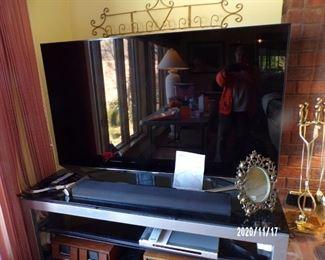 "65"" smart TV & stand"