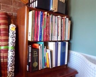 bookcase & sewing books