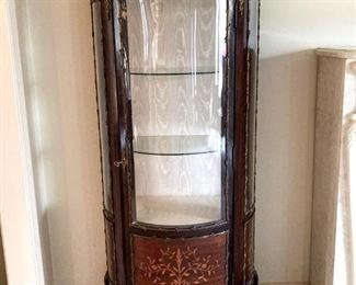 Early 20th Century Curio Cabinet with Inlay