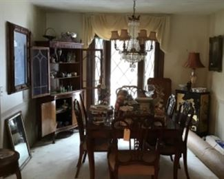 Dining Room Filled with Treasures! Dining Table and 6 Chairs $795, Cabinet $695, Accessories from $2