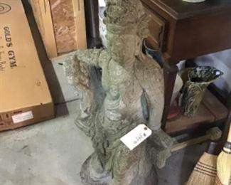 Vintage Cast Stone Garden Figure $395