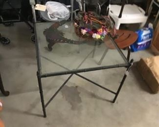 Faux Bamboo Square Cocktail Table $25
