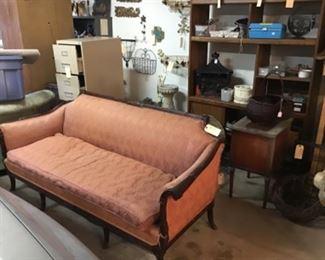 Vintage Mahogany Sofa $295