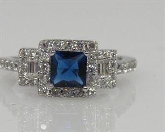 sapphire designer ring