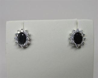 4.0 ct sapphire earrings