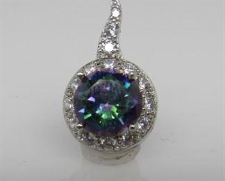 2.5 ct mystic topaz pendant
