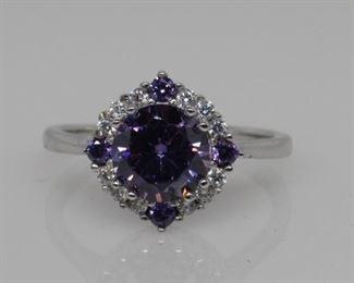 2.84 ct amethyst designer ring