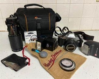 Canon AL1 35mm Camera with 2 Rokinon Lenses