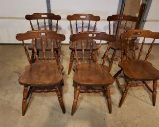 Six Sturdy Kitchen Chairs