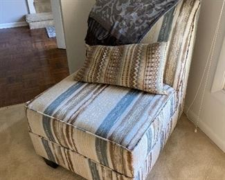 striped side chair