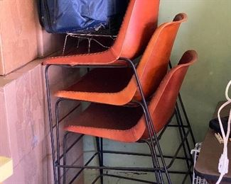 leather bar/counter stools, bucket