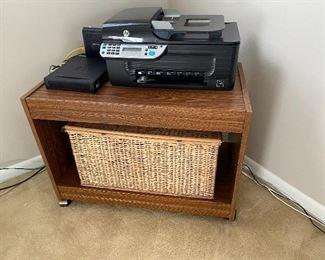 printer; tv stand