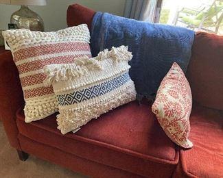 fringed throw pillows