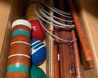 Vintage croquet set, in box