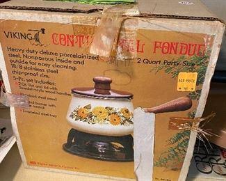 Vintage Viking fondue pot
