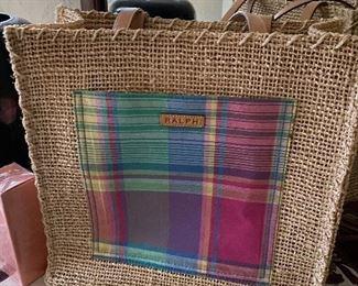 Ralph Lauren straw purse/bag
