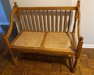 Vintage cane settee