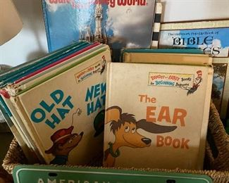 vintage Dr. Seuss books